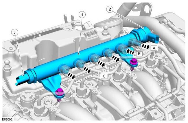 Топливный коллектор типа Common Rail на автомобилях Land Rover Freelander 2